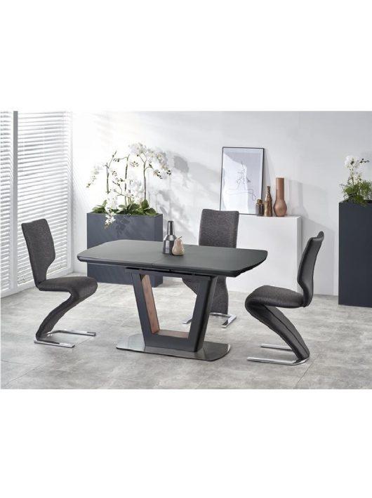 Bilotti Kihúzható Étkezőasztal antracit matt/dió 160-200x76cm