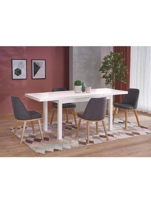 Tiago 2 Bővíthető fehér Étkezőasztal 140-220x80x76cm - Bővíthető MDF étkezőasztalok webáruházak