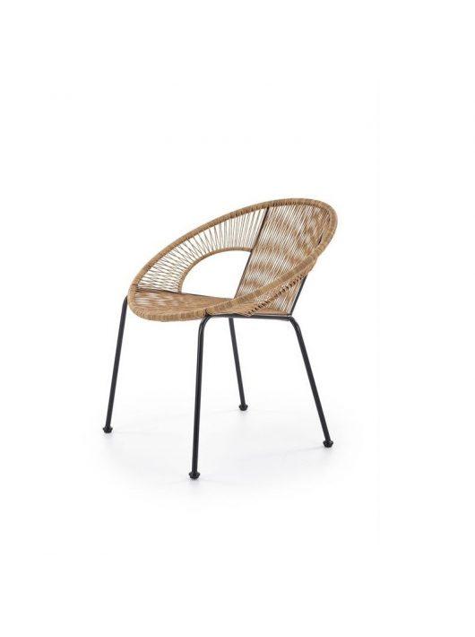 Bari rattan barna/fekete kültéri szék - Kert és terasz bútorok