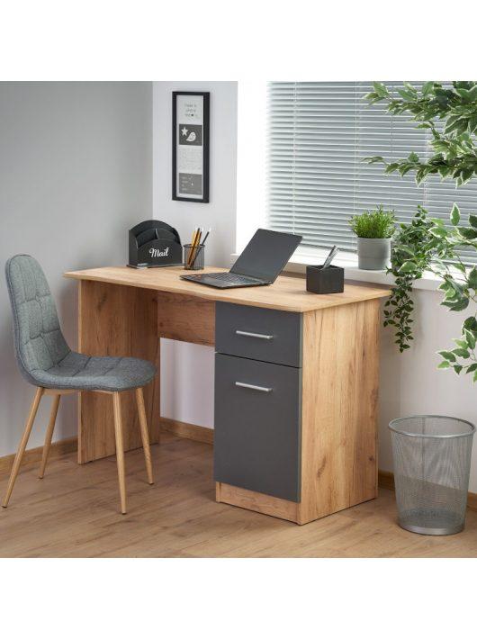 Elmo íróasztal Antracit szürke - Votan tölgy