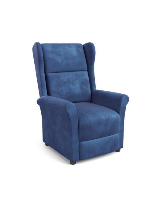 Agustin 2 fotel velvet szövet sötét kék