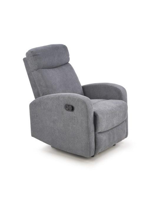 Oslo 1S Relax fotel Sötét szürke szövet
