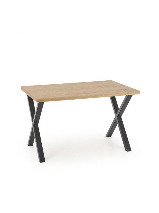 Apex Étkezőasztal 120cm Natúr tölgy furnér - Fekete