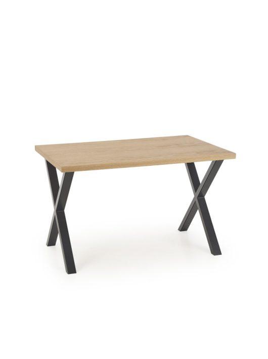Apex Étkezőasztal 140cm Natúr tölgy furnér - Fekete