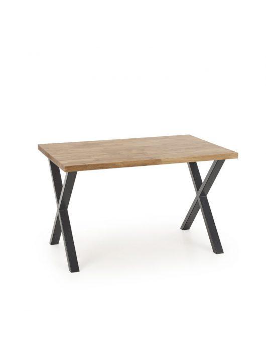 Apex Fa Étkezőasztal 120cm Natúr tölgy - Fekete