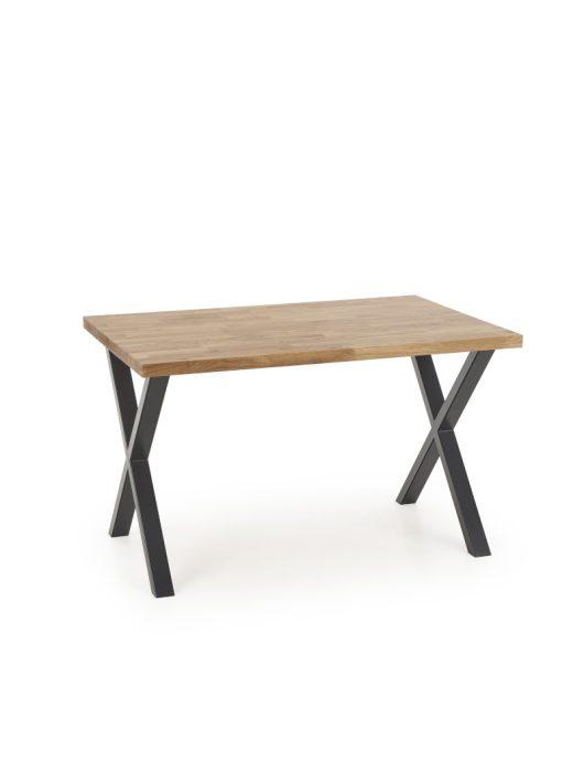 Apex Fa Étkezőasztal 160cm Natúr tölgy - Fekete