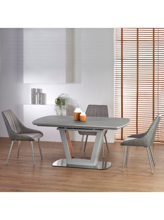 Bilotti Kihúzható Étkezőasztal Világos szürke matt - Dió 160-200cm