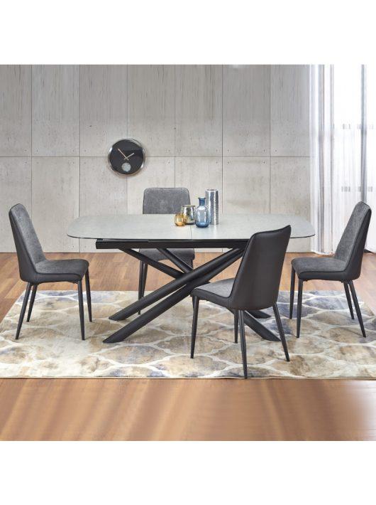 Capello Bővíthető Étkezőasztal 180-240cm Sötét szürke - Fekete