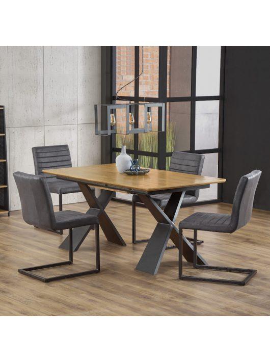 Chandler Bővíthető Asztal 160-220cm Natúr Tölgy - Fekete