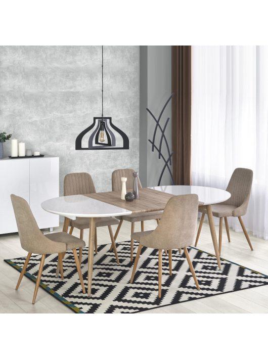Edward Bővíthető Étkezőasztal 120-200cm Fehér - San Remo tölgy