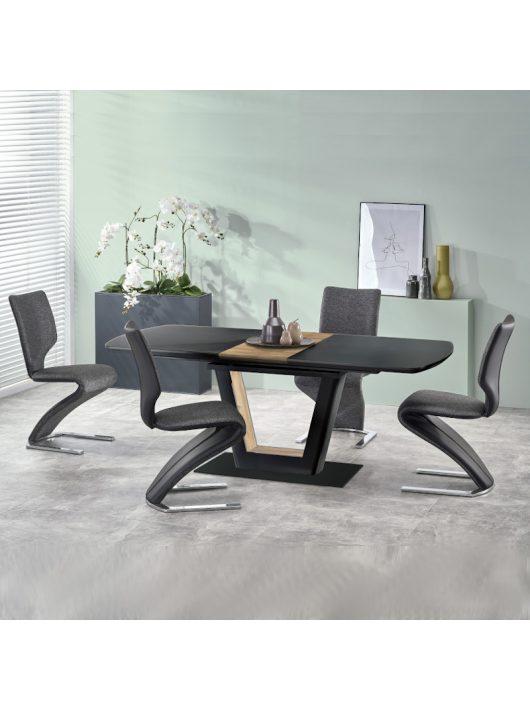Farrel Bővíthető Étkezőasztal 160-200cm Fekete - Dió