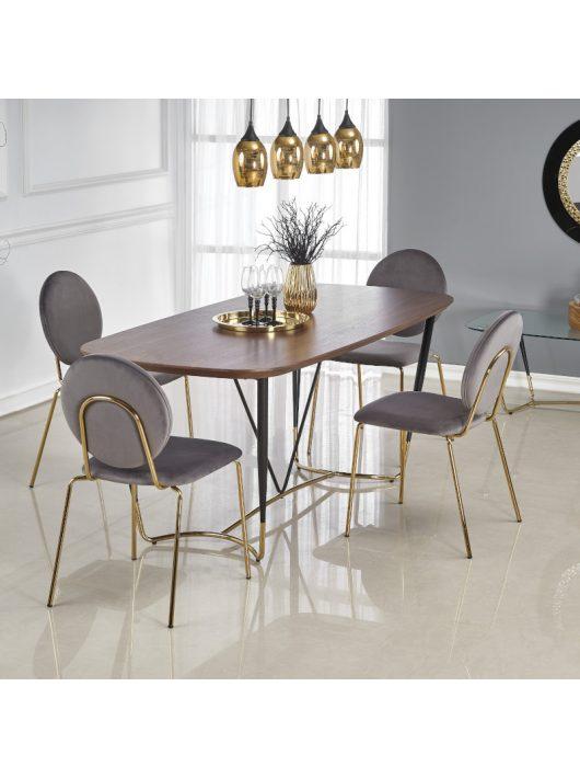 Manchester Étkezőasztal 180x90cm Dió - Fekete - Arany