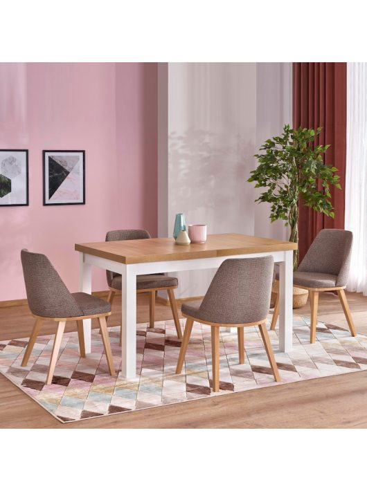 Tiago 2 Bővíthető Étkezőasztal 76x80x140-220cm Riviéra Tölgy - Fehér