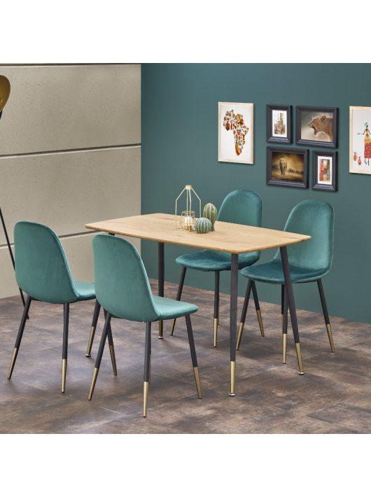 Tripolis Étkezőasztal 120x70cm Arany tölgy - Fekete