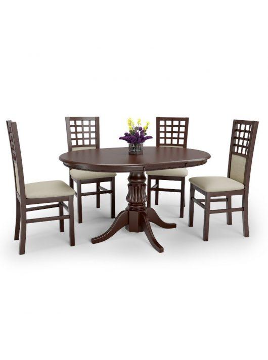 William Bővíthető Étkezőasztal 90-124cm Sötét dió
