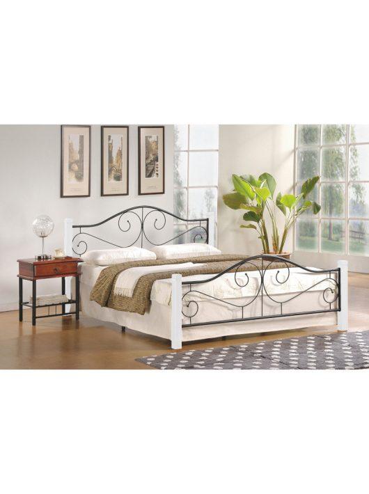 Violetta ágykeret 160 cm Ekrü Fehér - Fekete