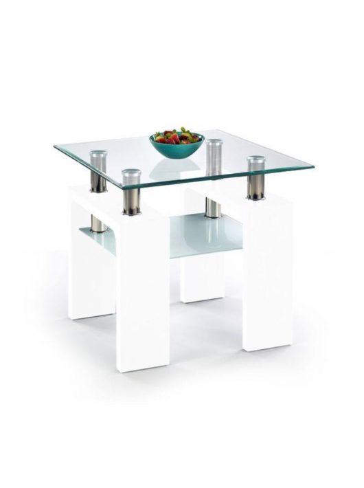 Diana H Kwadrat Lerakóasztal Fehér Lakkozott