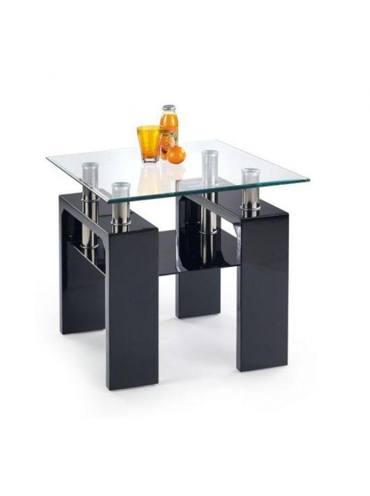 Diana H Kwadrat Lerakóasztal Fekete Lakkozott