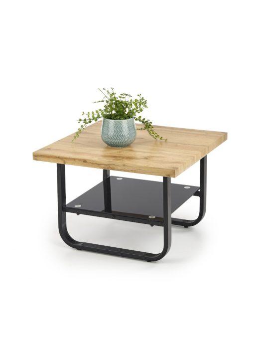 Espinoza négyzet alakú dohányzóasztal Natúr Tölgy - Fekete