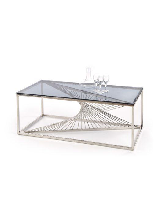 Infinity téglalap alakú üveg dohányzóasztal Füstös