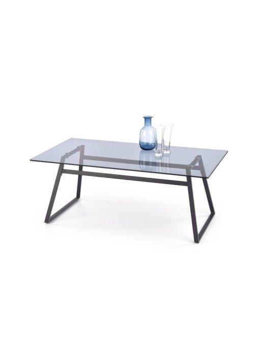 Nebula üveg dohányzóasztal Füstös - Fekete