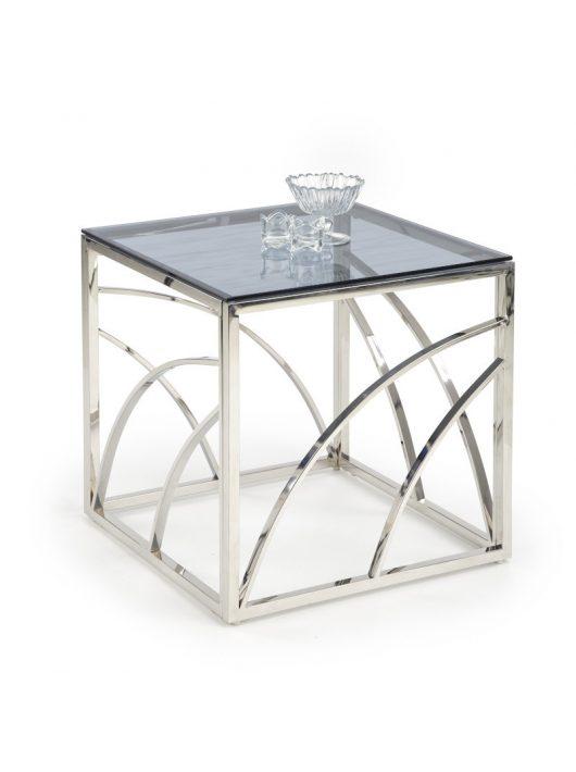 Universe négyzet alakú üveg dohányzóasztal Füstös - Ezüst