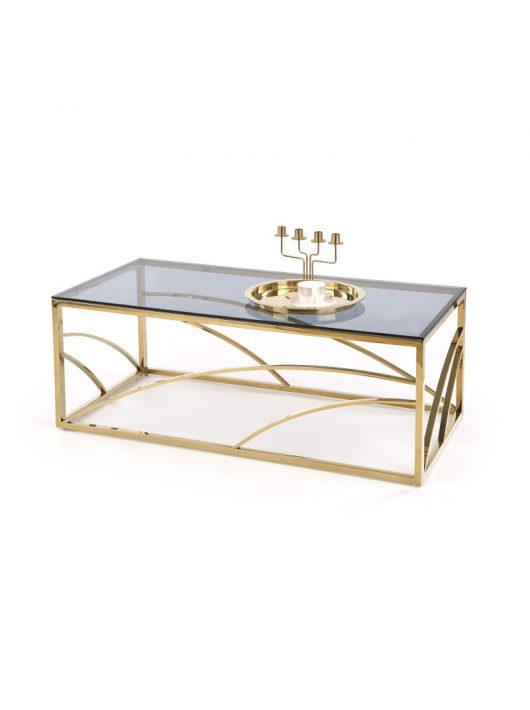 Universe téglalap alakú üveg dohányzóasztal Füstös - Arany