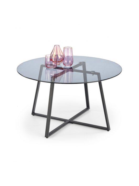 Zelda üveg dohányzóasztal Füstös - Fekete