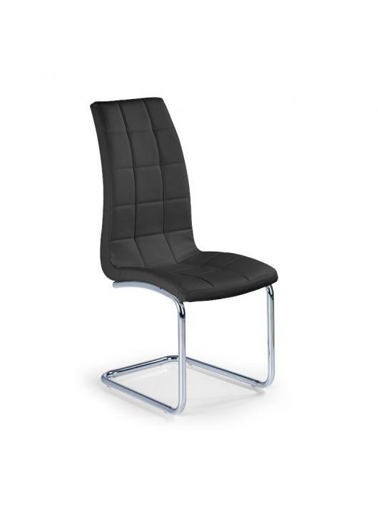 K147 Szánkótalpas szék Fekete
