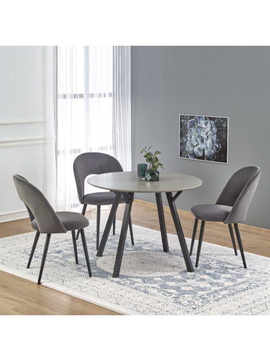 Balrog Kerek Étkezőasztal 100cm Világos szürke - Fekete