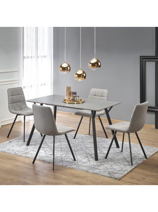 Balrog Téglalap alakú Étkezőasztal 140x80cm Világos szürke - Fekete