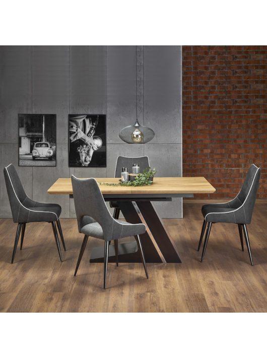 Ferguson Bővíthető Étkezőasztal 160-220cm Natúr tölgy - Fekete