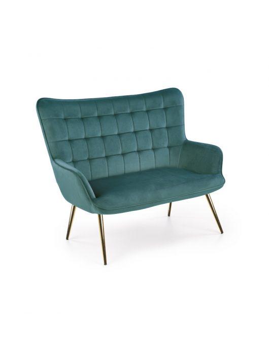Castel 2 XL két személyes kanapé sötét zöld