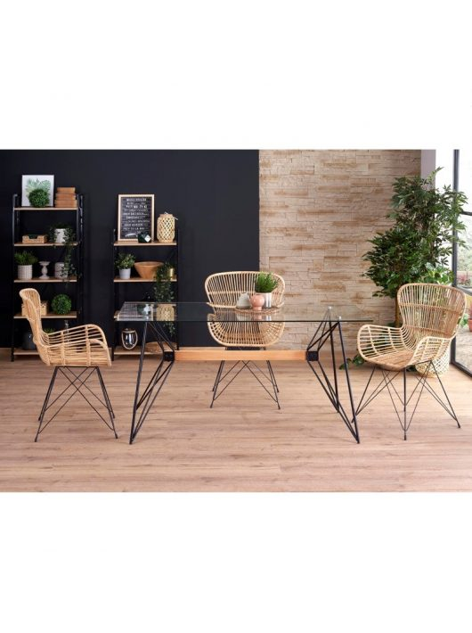 Allegro Étkezőasztal bükk/fekete 160x80cm - Fa étkezőasztalok webáruház