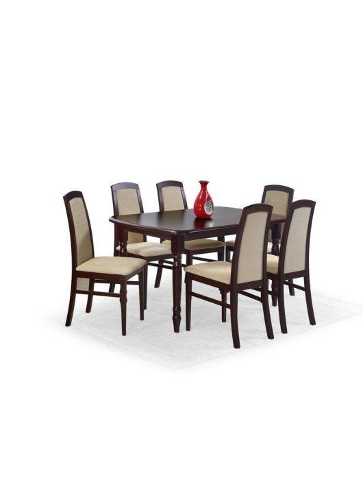 Arnold Bővíthető Étkezőasztal MDF Sötét Dió 150-190x80cm - Fa étkezőasztalok webáruház