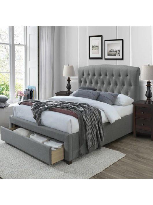 Avanti Ágy 160 cm Szürke-Dió - Ágykeretek webáruház