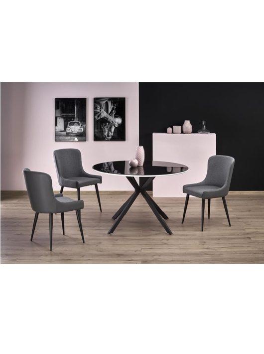 Avelar Étkezőasztal fekete/fehér 120x76cm - Fa étkezőasztalok webáruház