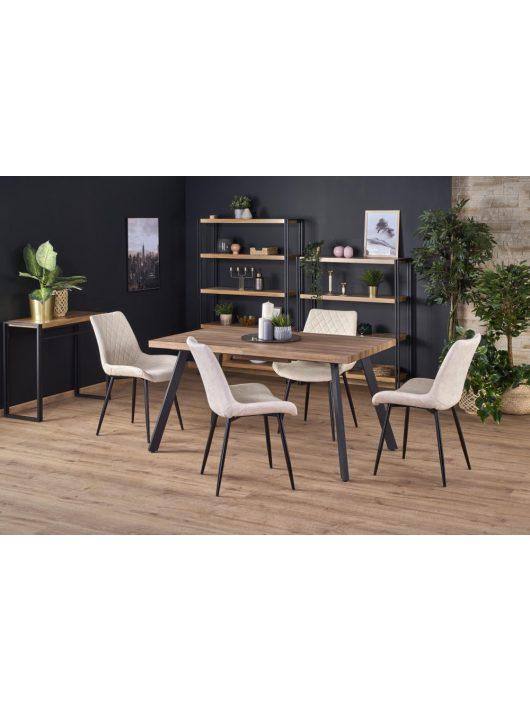 Berlin Kihúzható Étkezőasztal mézes-dió/fekete 140-180x76cm - Fa étkezőasztalok webáruház