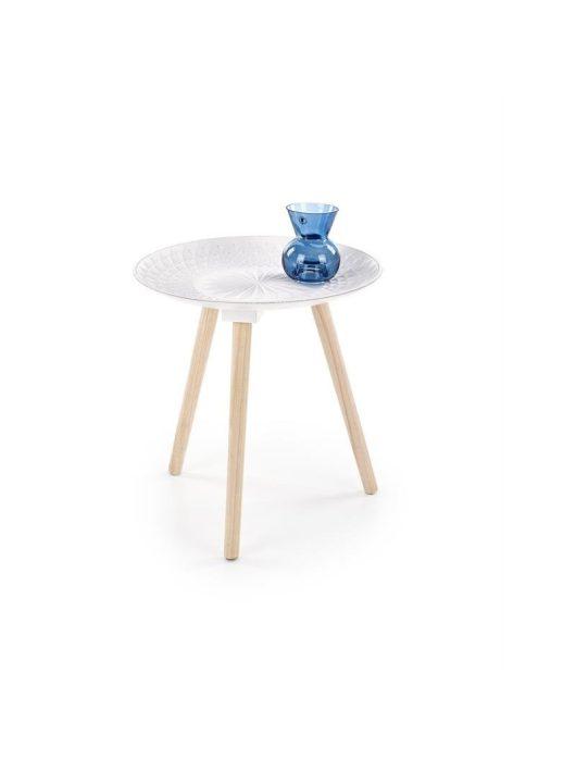 BINGO fehér dohányzóasztal - Fa és Műanyag dohányzóasztalok webáruház