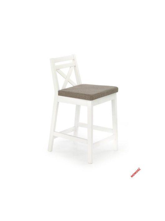 Borys LOW alacsony bárszék fehér - Halmar Bútor webáruház