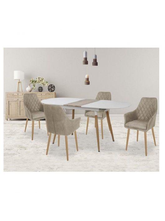 Caliber Összecsukható Asztal 160-200 cm Fehér-San Remo Tölgy