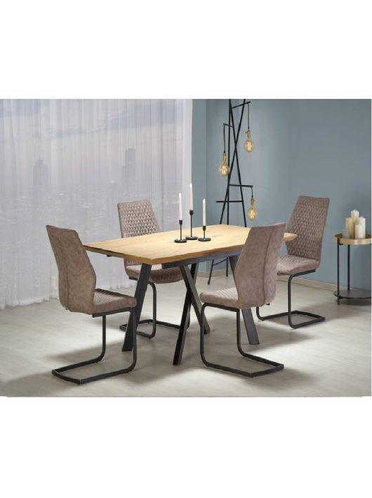 Capital Összecsukható Asztal 160-200 cm Arany Tölgy-Fekete