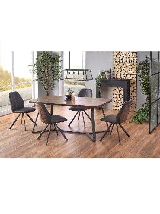 Caruzzo Étkezőasztal dió/antracit 180x90cm - Bővíthető MDF étkezőasztalok webáruház