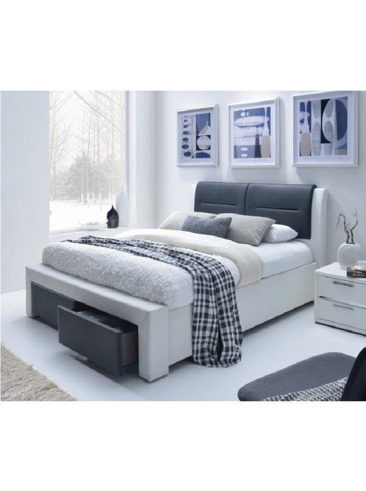 Cassandra S Ágy Fiókokkal 140 cm Fehér-Fekete