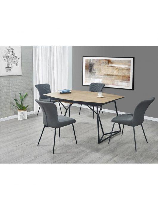 Colombo Kihúzható Étkezőasztal arany-tölgy/fekete 160-210x76cm - Fa étkezőasztalok webáruház