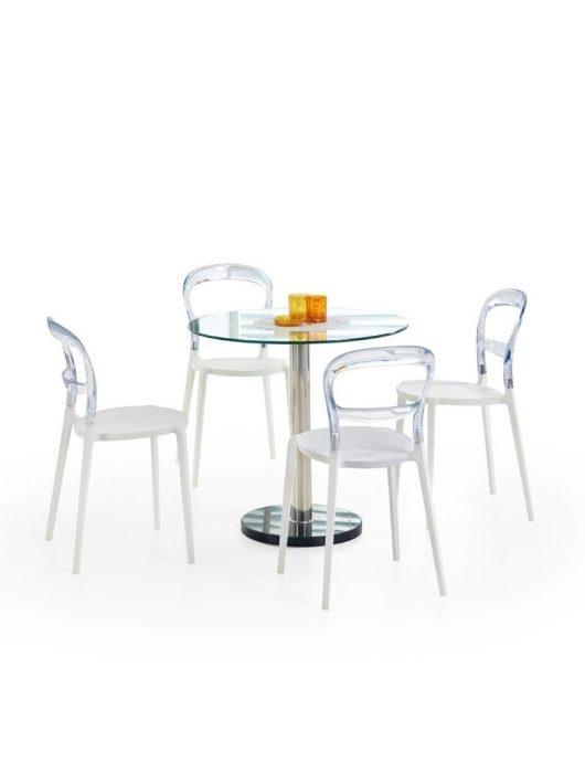 Cyryl Kör Étkezőasztal 80x74cm - Üveg étkezőasztalok webáruház