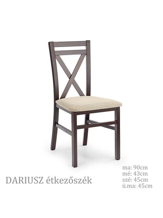 DARIUSZ étkezőszék sötét dió