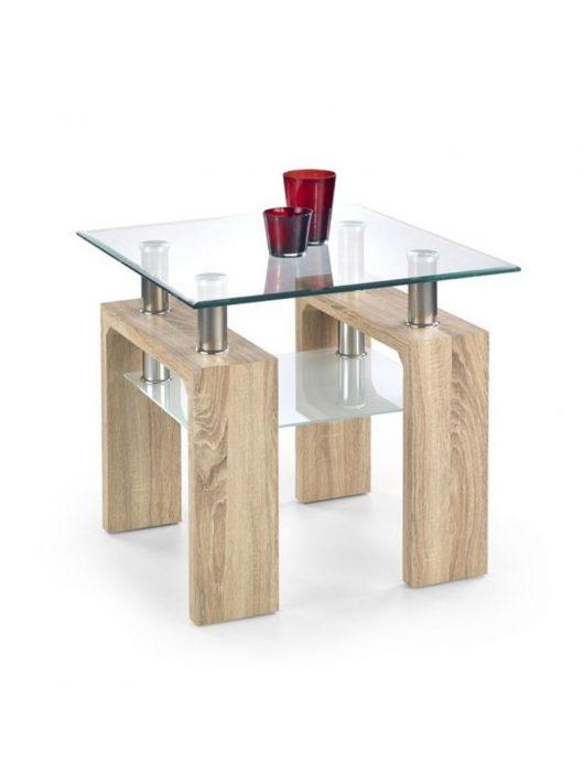 Diana H Kwadrat Lerakóasztal Tölgy - Üveg dohányzóasztalok webáruház