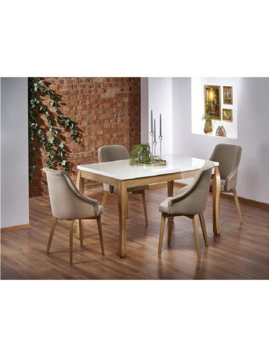 Donovan Kihúzható Étkezőasztal fehér/tölgy 140-210x90x76cm - Fa étkezőasztalok webáruház