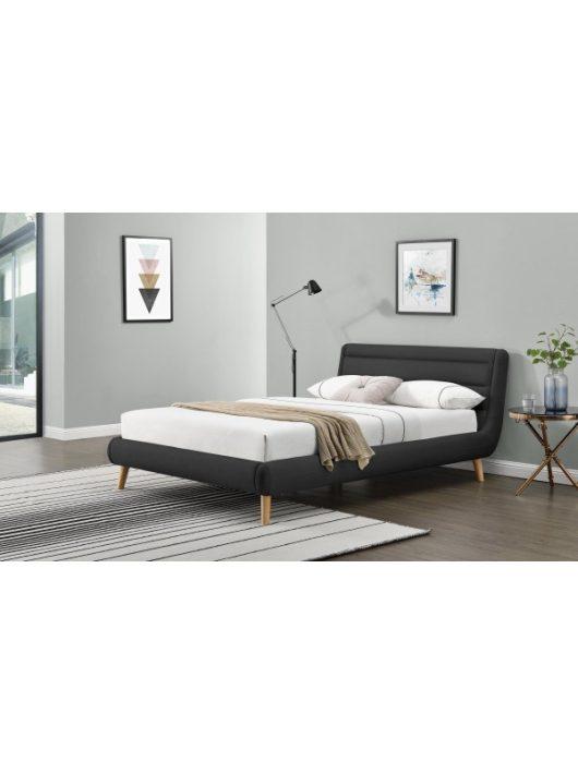 Elanda Ágy 140 cm Sötétszürke-Natúr